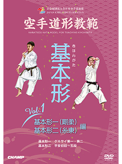空手道形教範 基本形 Vol.1 基本形一(剛柔)・基本形ニ(糸東) 編(DVD版) ジャケット画像